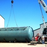 25,000 gallon Fuel Oil Tank - Shipped to South America 02 - Click for Large Image...