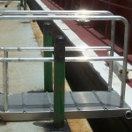 Aluminum Walk Plank - Down - Click for large image...