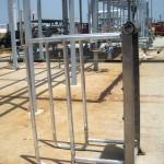 Aluminum Walk Plank - Up Position - Click for large image...
